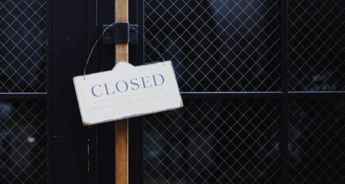 Betrieb aufgrund behördlicher Anordnung während Pandemie geschlossen